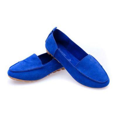 Soft flat shoes for Women Mocassin design faux suede