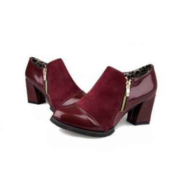 High Heeled Shoes for Women with Zip Closure down the middle