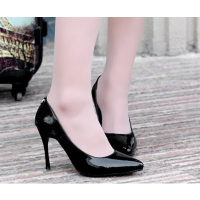 High Heeled Shoes for Women Classic Style with Lock on Back