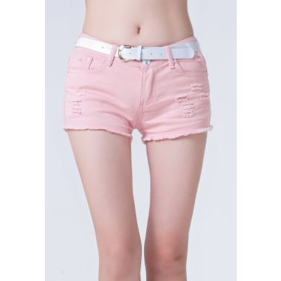 Denim Jeans Shorts for Women High Waist Retro Fashion - Washed out