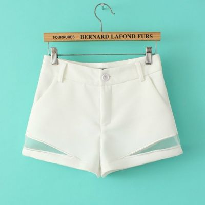 Women's Summer Shorts with Transparent Mesh Side Design