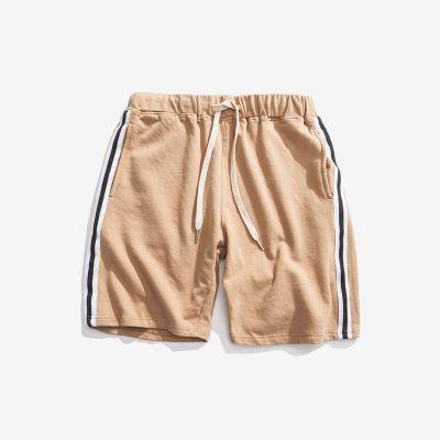 Men's vintage sports shorts with retro side stripes