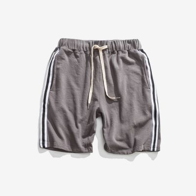Men's vintage sports shorts with retro side stripes