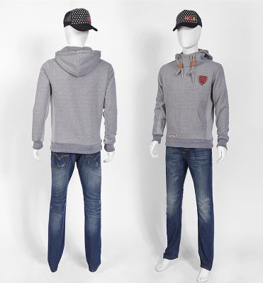 Fashion hoodie jumper for men with sport style badge embroidered