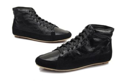 Vintage style Sneakers High Top Leather Old School Fashion for Men