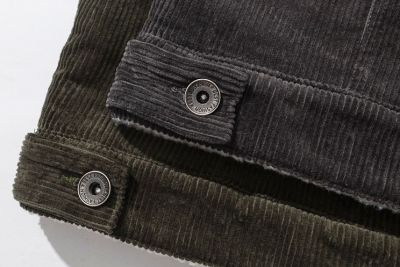 Men's Corduroy Trucker Jacket with Wool Lining