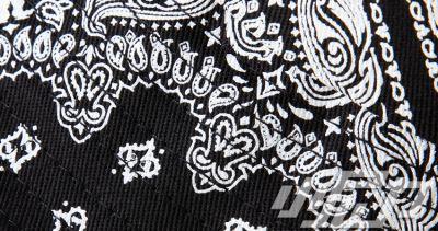 Circular Bandana Print Bucket Hat with Dope Embroidery