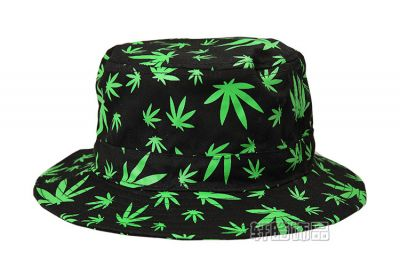 Allover Marijuana Print Bucket Hat for Men or Women