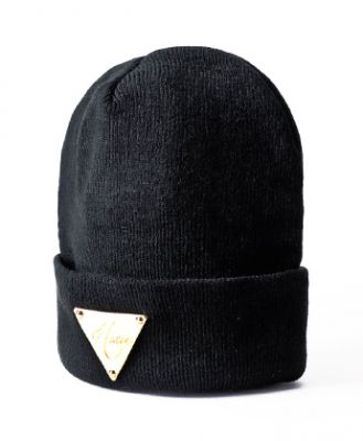 Gold Plaque Hater Winter Beanie hat for men or women