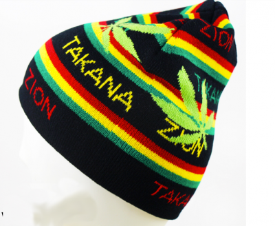 Weed Print Jamaica Woolly Beanie Hat for Winter
