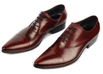 Slim Dress Business Shoes for Men with Laces - Brown