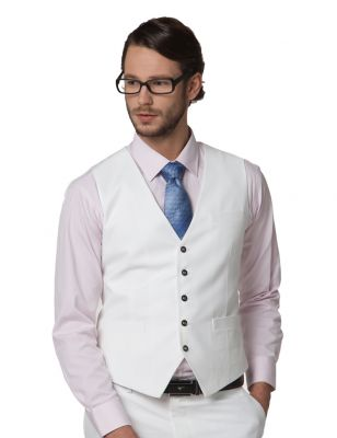 V collar Waistcoat jacket with Long 5 button closure