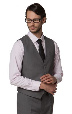 Slim fit Waistcoat jacket for men with 4 button closure