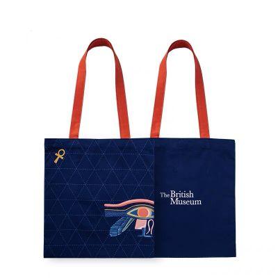 Canvas shopper bag with print
