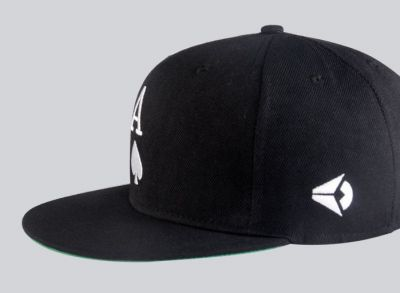Ace of Spades Snapback Baseball Hat with Embroidery Black White
