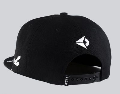 Middle Finger Baseball Snapback Cap with Printed brim