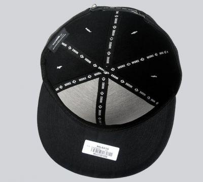 Inverted Crucifix Cross Snapback Baseball Cap Black and Red