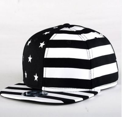Snapback Baseball Cap with USA Flag Stars and Stripes