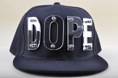 Studded XOXO Fake Dope Snapback Baseball Cap Gold Silver