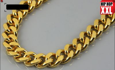 Cuban Links Gold Plated Chain Bling Bling Hip Hop Necklace 100 CM