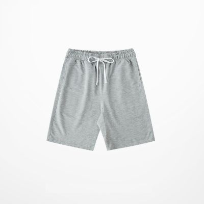 Cotton fabric baggy shorts for men with white drawstring