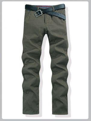 Straight cut denim Jeans pants for men - Dark green