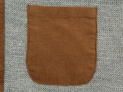 Fashion Shirt for men with Velvet Corduroy Sleeves Bicolor