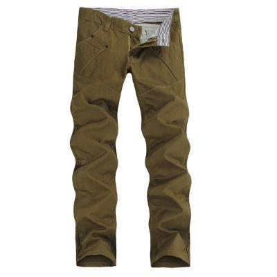 Men's coton denim pants Slim Fit Jeans Beige Olive Black