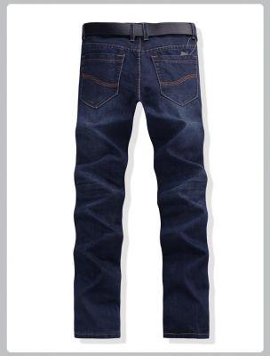Classic blue Straight Fashion Denim Jeans for Men