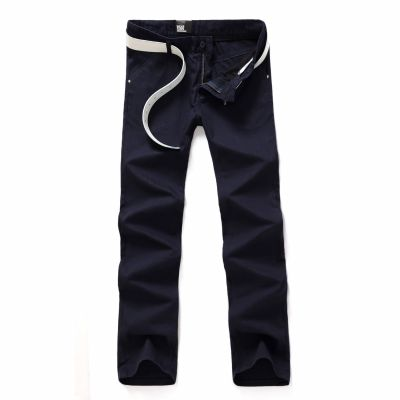Linen Casual Slim Fit Pants for Men Summer Spring Trousers