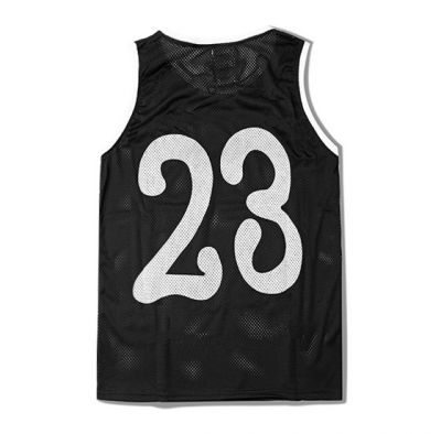 Number 23 White Print Mesh Tanktop for Men