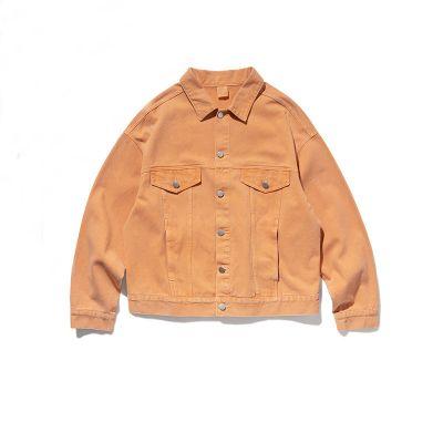 Denim trucker jacket in washed unisex