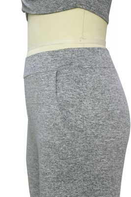 Heathered Cotton Crop Top and leggings set for women