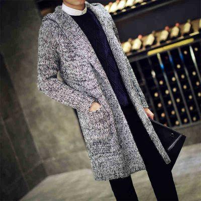 Long knitwear cardigan sweater for men