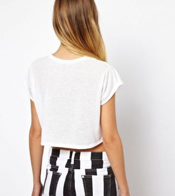 I Love You Crop Top T shirt for Women Summer Fashion
