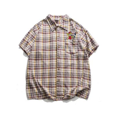Check shirt short sleeve unisex