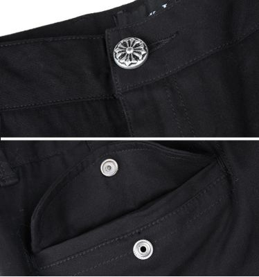 Jogger Pants for Men with Side Pocket and Button Closure