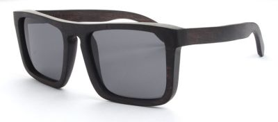 Square Wooden Sunglasses Bamboo Frame with Dark Lense