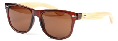 Wayfarer Sunglasses with Wooden Branches Plastic Frame