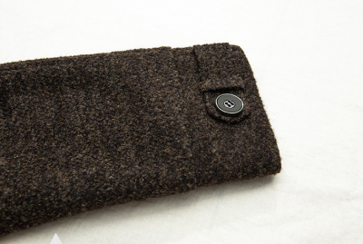 Men's Wool Winter Duffle Coat with Straight Cut - Brown