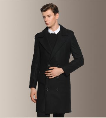 Men's Classic Wool Double Breasted Coat