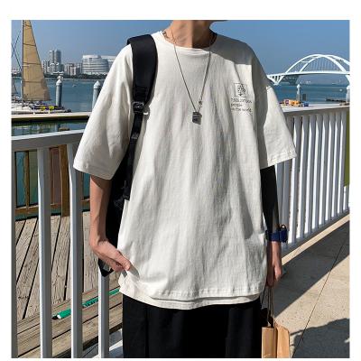 Men's baggy short sleeve T-shirt round neck graffiti