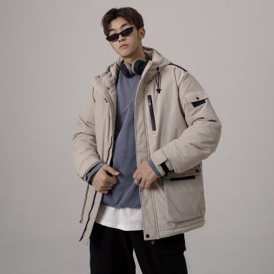 Men's oversized hooded parka