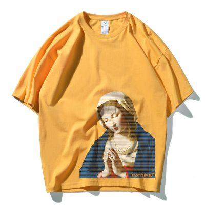 Men's short sleeve t-shirt Virgin Mary print oversize