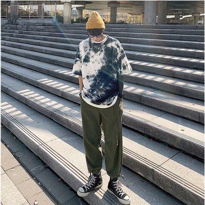 Men's tie-dye short-sleeved t-shirt