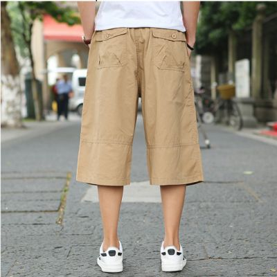 Oversized cotton shorts for men