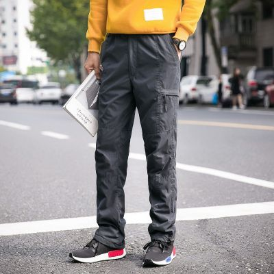 Padded cargo pants for men