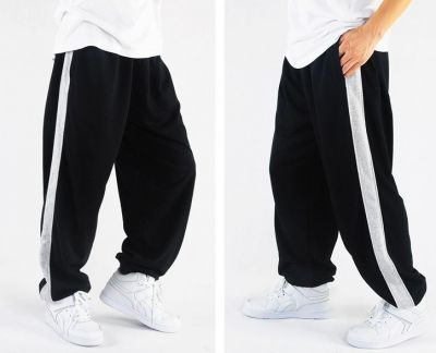 Cotton Sweatpants with Solid Stripe down the side