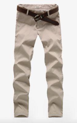Super Skinny cotton chino pants for men