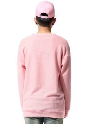 Pink Knitwear Crewneck Sweater for Men